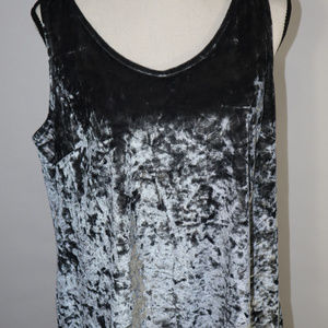 NWT Cynthia Rowley Luxe Grey Velveteen-Look Size L